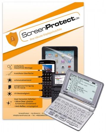 ScreenProtect Displayschutzfolie AntiReflex für Casio EW-G500