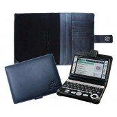 CalcCase Translator für Casio EWG-6000/7000-Serie aus hochwertigem schwarzen Nappaleder