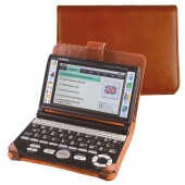 CalcCase Translator für Casio EWG-6000/7000-Serie aus hochwertigem braunen Rindsleder